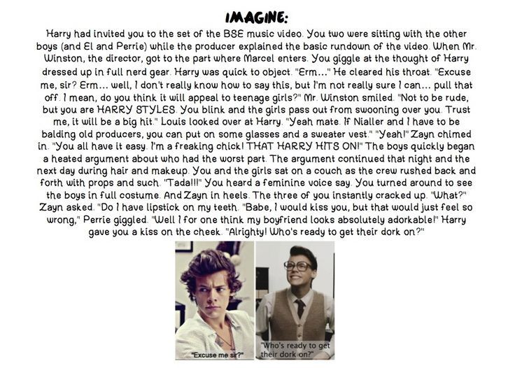 Haha... cuz EVERYBODY loves Marcel Styles :) One Direction Imagine :)