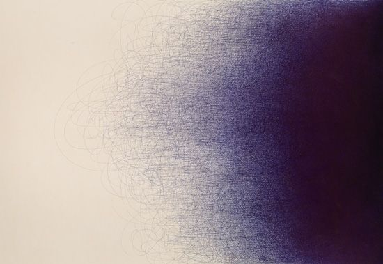 Il Lee (Korean, living in NYC) -minimalistic, linked to Asian calligraphy, use of ball point pens