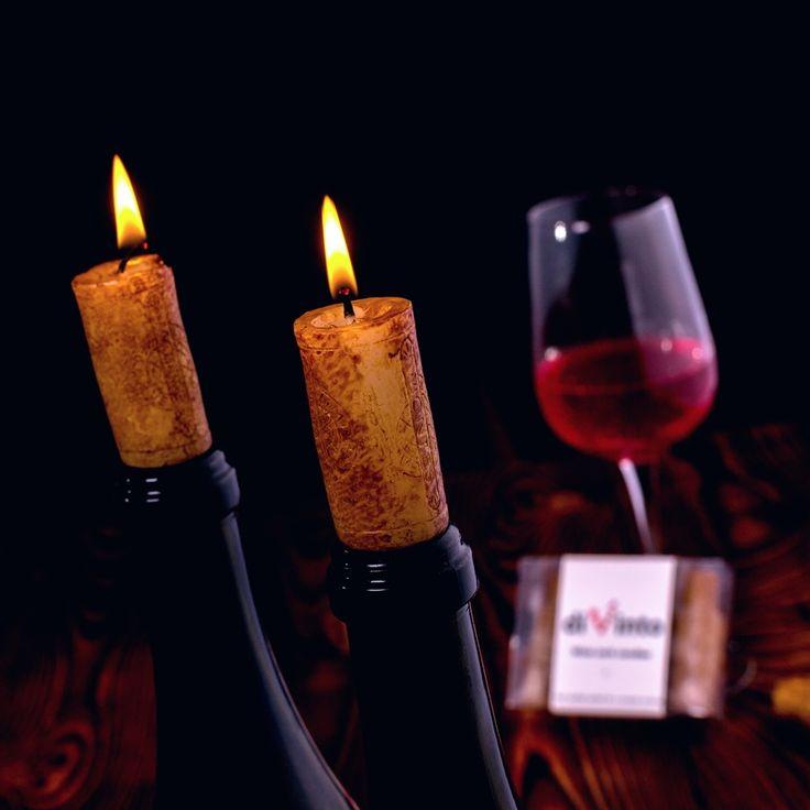 Świeczki korki do wina - wino + świeczki. 2w1 :) idealne połączenie na romantyczny wieczór