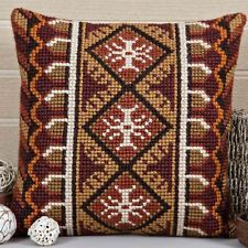 "MAYA Chunky Cross Stitch Cushion Front Kit 16"" x 16"""