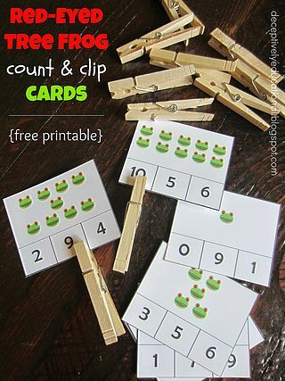 Red-Eyed Tree Frog Count & Clip Cards | Relentlessly Fun, Deceptively Educational | Bloglovin'