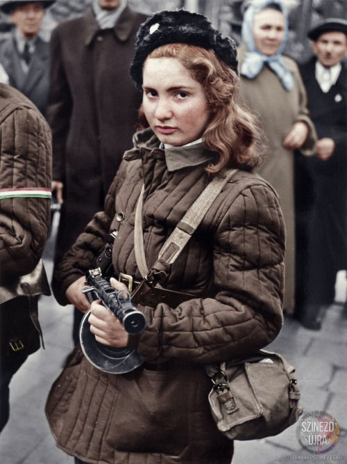 15-year-old Hungarian freedom fighter