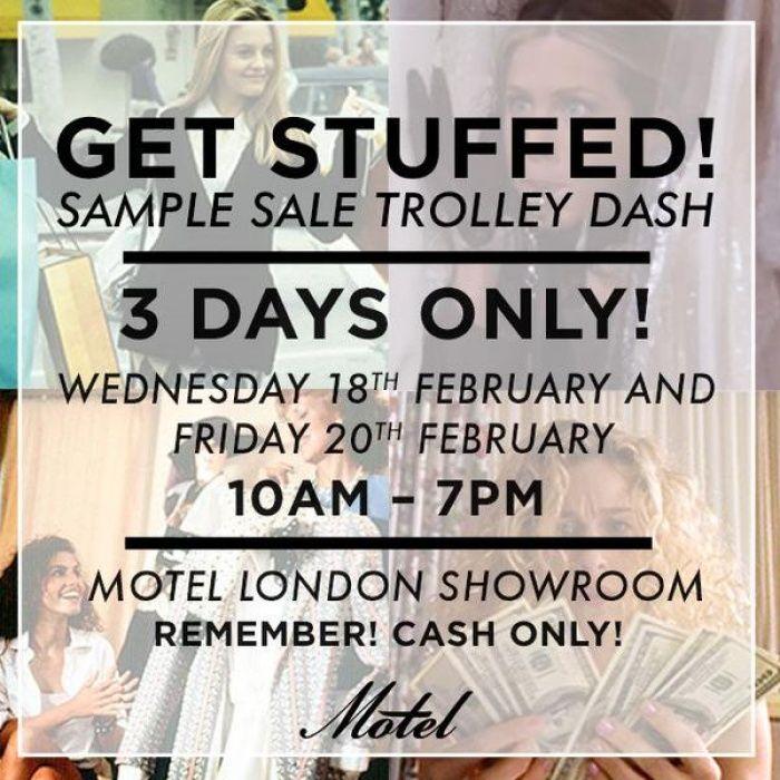 Motel rocks sample sale -- London -- 18/02-20/02