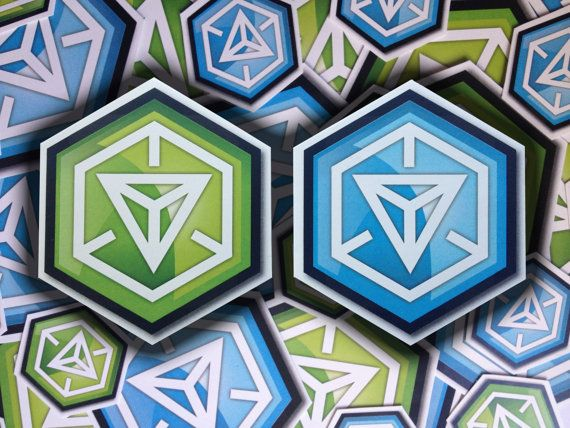 This listing is for one high quality vinyl Ingress Resistance and/or Enlightened Badge sticker, for your laptop, car, truck, minivan, mirror, window, binder, cat, dog, or whatever needs stickering.  Stickers are offered in two sizes: Large (approximately 3.25 x 3.75) and Small (approximately 1.5 x 1.75) in stunning full color as seen in the photograph.  These vinyl stickers are long lasting, color-fast, weather durable, look great on a variety of surfaces, and are easy to remove. This is...