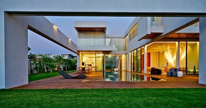 Villa C Inspirada en feng shui / Gal Marom Architects http://www.arquitexs.com/2014/07/casa-de-lujo-en-israel-villa-c-Gal-Marom-Architects.html