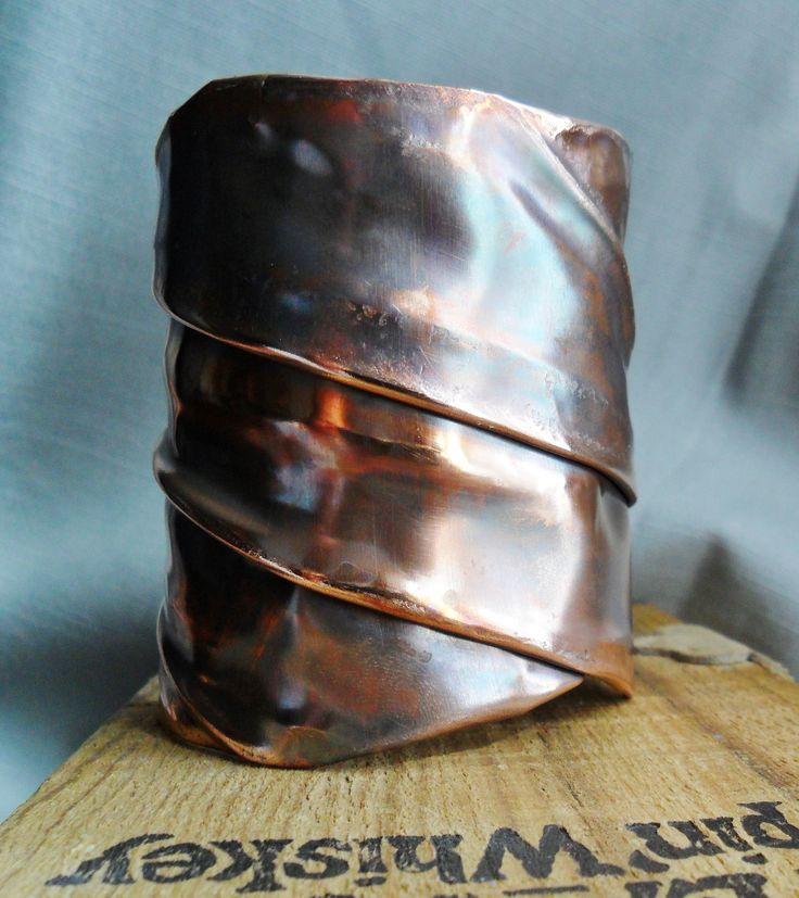 Fold Formed Copper Cuff Bracelet. $65.00, via Etsy.