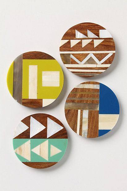 Symbology Coasters #anthropologie: Ideas, Craft, Anthropology, Inspiration, Pattern, Symbology Coasters, Contemporary Barware, Design