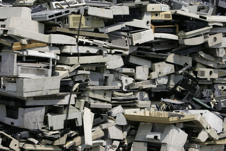 Every year over 5 million tons of e-waste is created worldwide from obsolete computers, phones, etc. 70 percent ends up in Giui, China where factories pull it apart for precious metals. For every million cell phones they recycle 35,000 lbs of copper, 772 lbs of silver, 75 lbs of gold, and 33 lbs of palladium. Just for the phones this is valued at more than ten million dollars. Once stripped, the plastic and PC boards are ground up and plowed into the soil or burned.