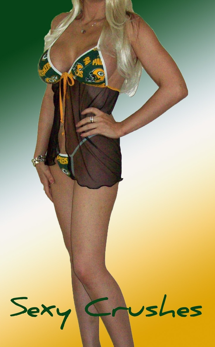 NFL Green Bay Packers Lingerie Negligee Babydoll by SexyCrushes, $36.00