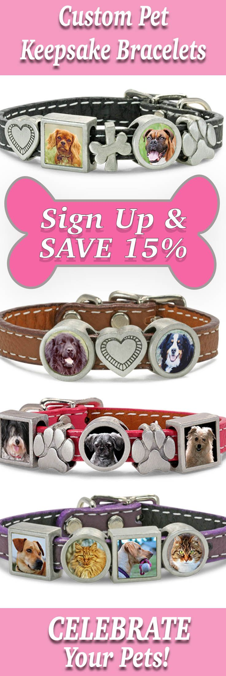 Join us and save 15% on YOUR custom Molly Bracelet: https://zeldassong.lpages.co/pinterest-molly/ Your CUSTOM bracelet is priced as you create it - $45 for the wristband, then $25 per photo charm and $20 per dog-themed charm. Create the story of YOUR fur kid!