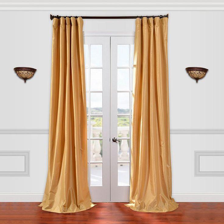 Eff EFF 1-Panel Solid Faux-Silk Taffeta Window Curtain