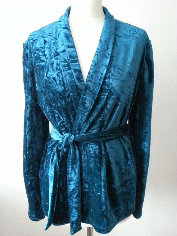 Check out this item in my Etsy shop https://www.etsy.com/uk/listing/253067451/velvet-kimono-jacket-teal-velvet-top