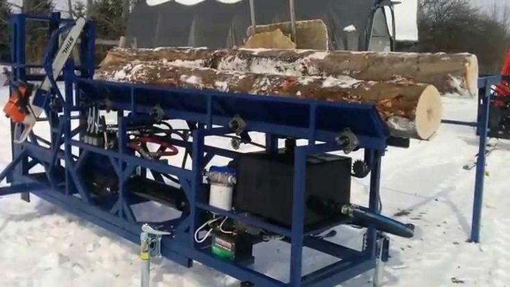 Homemade Firewood processor - First run