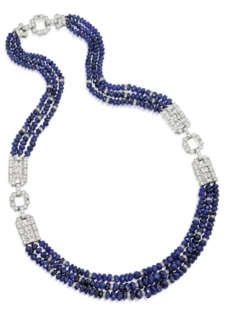03f177757f48 Cartier - An Art Deco Sapphire and Diamond Necklace