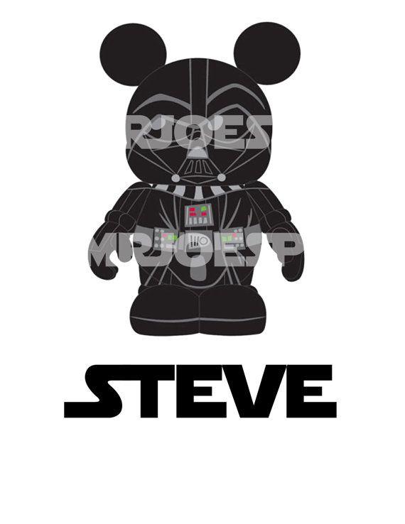 Star Wars Mickey Mouse DIY Printable Darth Vader Donald Iron Transfer Pillowcase Shirt Star Tours Minnie Princess | Disney ideas | Pinterest