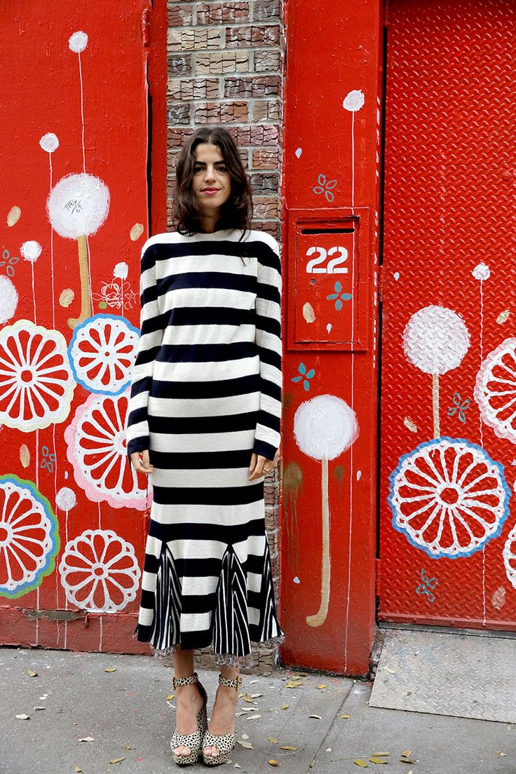 New Year's Eve is Overrated, Your Outfit Doesn't Have to Be - Man Repeller | @andwhatelse, listras, preto e branco, street style, vestido mídi