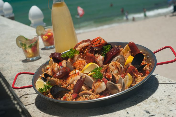 Paella at Benny's on the Beach