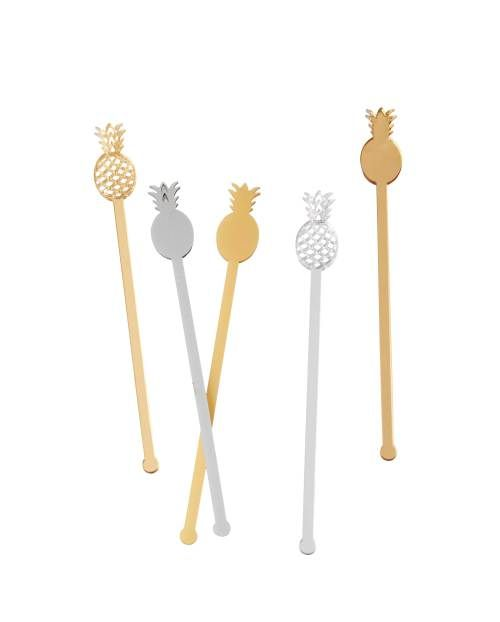 Best Bar Accessories: Jenn and Jules Designs Pineapple Cocktail Stirrers | CoastalLiving.com