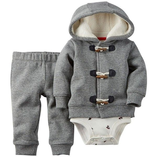 Carter's Baby Boy Christmas Hoodie Set (78 PEN) ❤ liked on Polyvore featuring baby boy