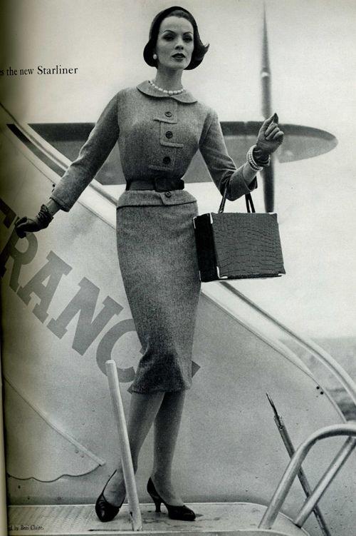 1940s 1950s fashionair france paris fashion airports chic vintage
