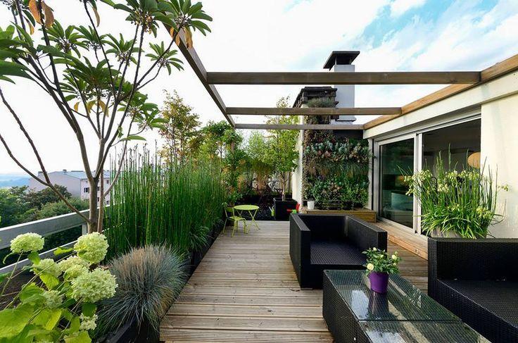 Dach-Designs, Dach-Dekor, Dachgarten, Dachterrasse, Dachterrassen, Umbau auf dem Dach,