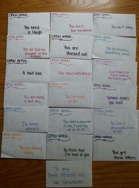 35+ super ideas for gifts creative boyfriend open when letters