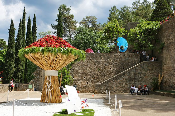The Temps de Flors festival in Girona, Spain