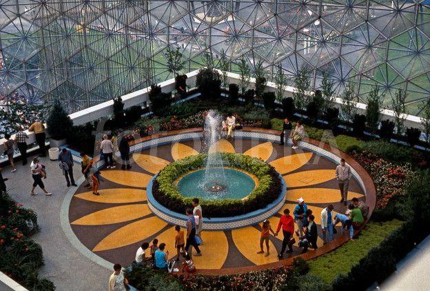 Inside USA pavilion, Expo 67, Montreal.