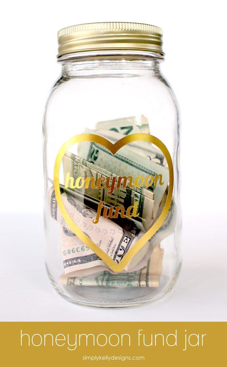 Foiled Honeymoon Fund Jar by Simply Kelly Designs