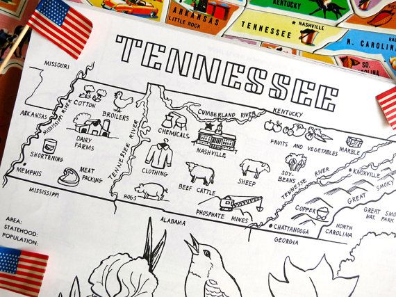 nashville tennessee coloring pages - photo#21