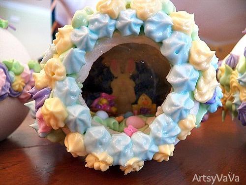 Panoramic Sugar Easter Eggs