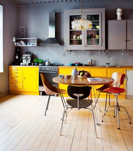 pops of colour to pep up your kitchen