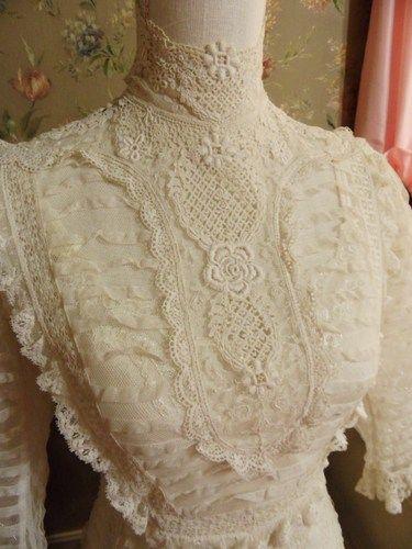 Gorgeous lace on this Edwardian Lawn Dress