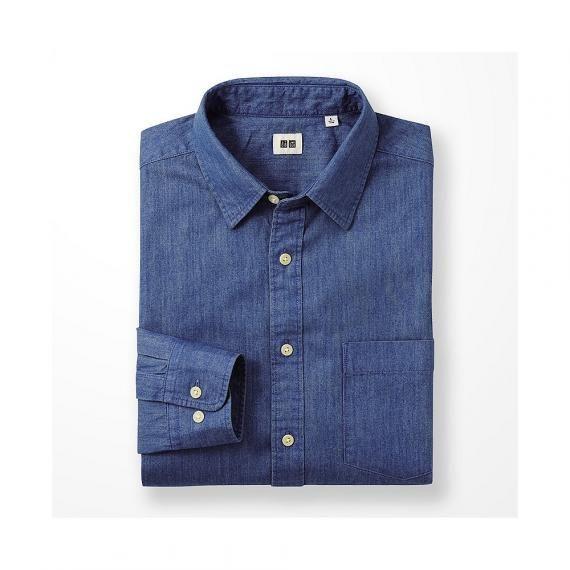 MEN Denim Long Sleeve Shirt
