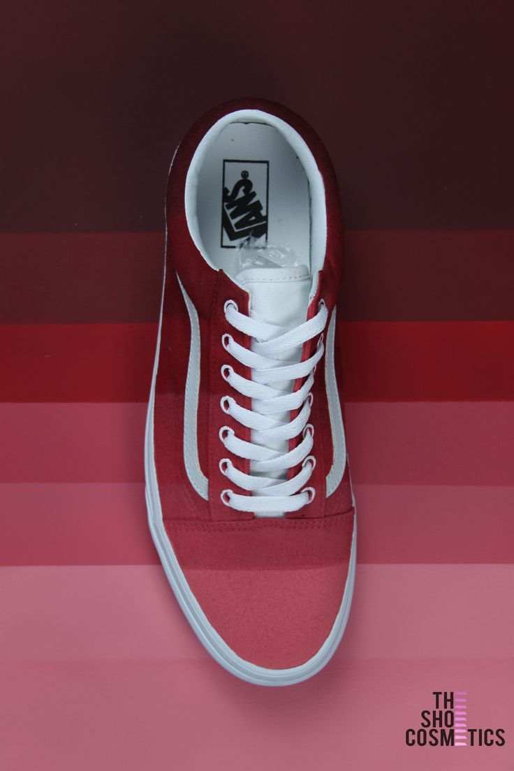 Cute women's Custom red vans sneakers. TheShoeCosmetics 'shades Of Red'  pallet Vans old