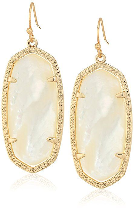 08a92a880 Kendra Scott Signature Elle Earrings in Rose Gold Plated and Ivory Mother  of Pearl |Accessories Jewelry Earrings