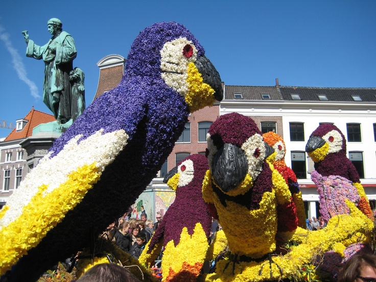 Flower parade in Haarlem, Netherlands. Happens every year in April