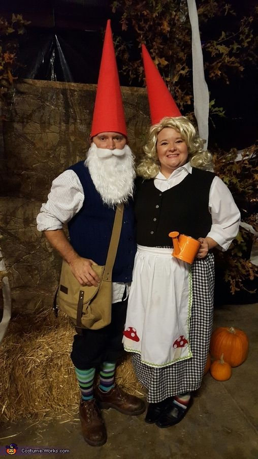 Tim: My wife loves garden gnomes, so of course we are Halloween garden gnomes. Costumes are made by my wife