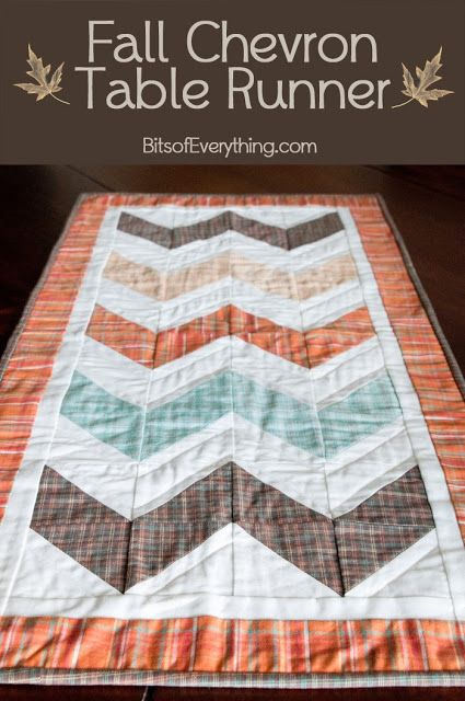 Fall Chevron Table Runner Tutorial - this is darling!