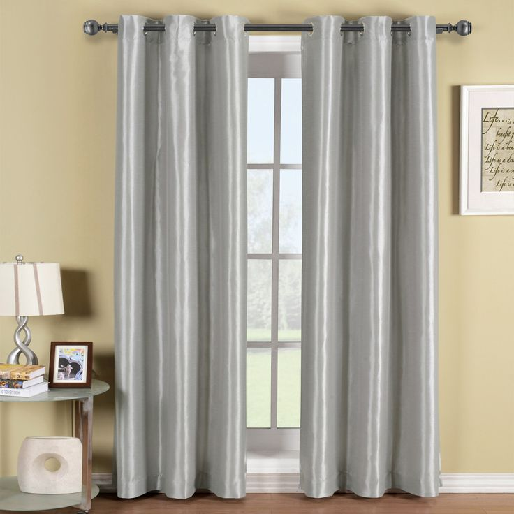 Soho Silver Grommet Blackout Window Curtain Panel