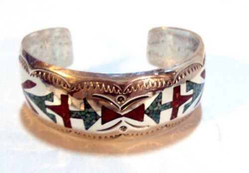 Southwestern Sterling Silver Inlaid Turquoise and Coral Cuff Bracelet  For sale at:http://www.ebay.com/itm/Southwestern-Sterling-Silver-Inlaid-Turquoise-and-Coral-Cuff-Bracelet-/370907650902?pt=LH_DefaultDomain_0&hash=item565bd19b56