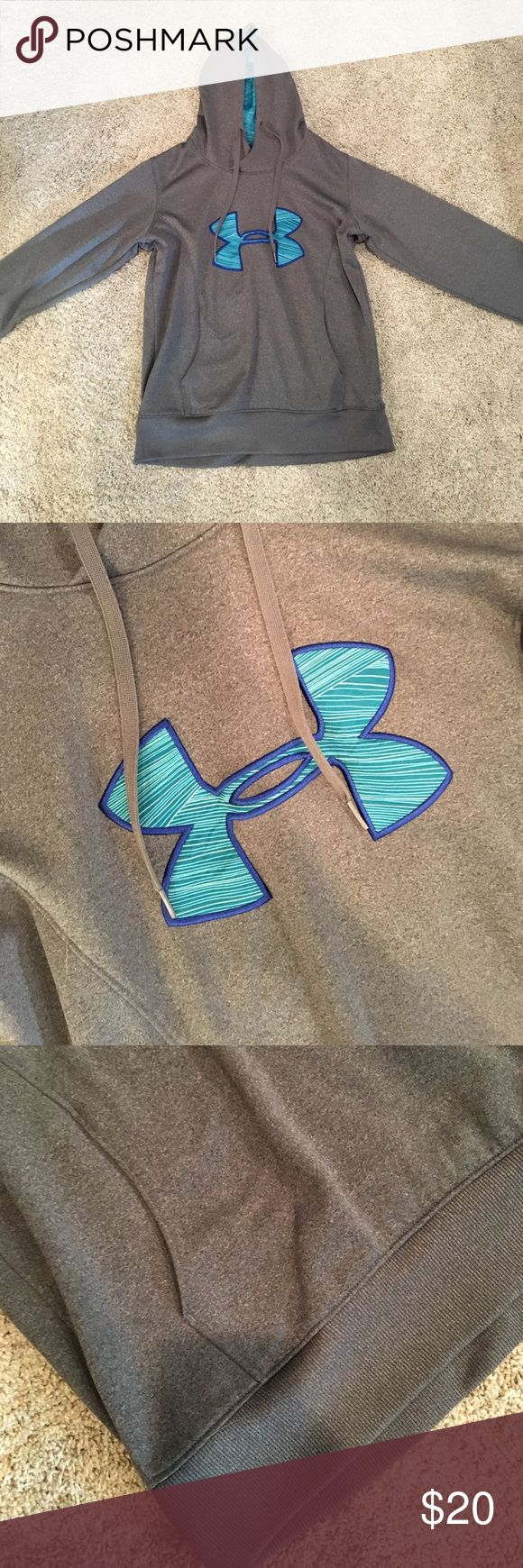 Under Armour Sweatshirt Lightly worn but so adorable!! Perfect for chilly weather! Under Armour Tops Sweatshirts & Hoodies
