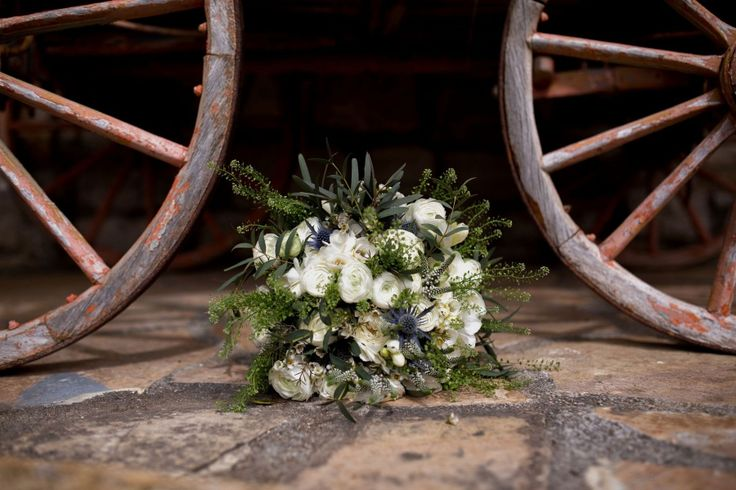 Vintage countryside bridal bouquet