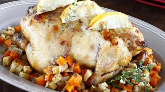 Курица с лимоном и тимьяном. Пошаговый рецепт с фото на Gastronom.ru