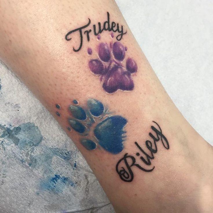 Paw Print Tattoo On Bottom Of Foot: Pawprint Tattoo, Paw Print Tattoo
