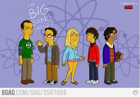Big Bang Simpson: Bangs Simpsons, The Simpsons, Simpsons Style, Bing Bangs, Big Bangs Theory, Theory Simpsons, Quality, Mr. Big, Springfield Punx