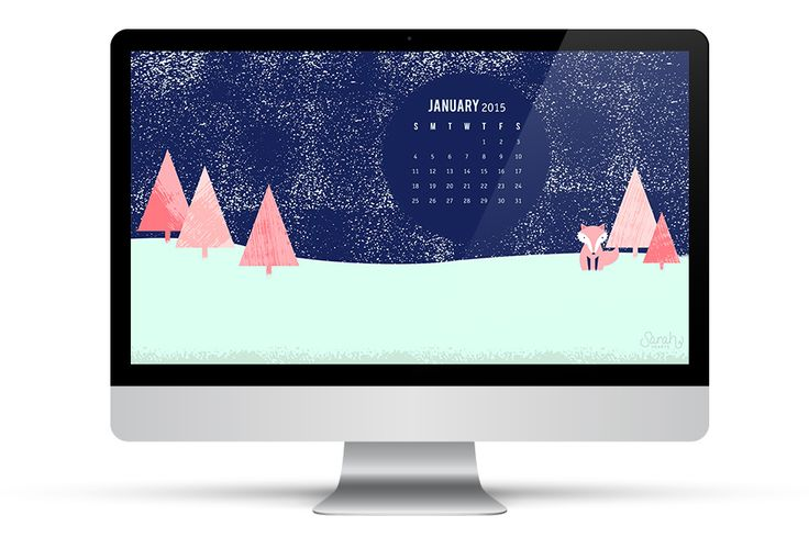 It's a winter wonderland right on your desktop! Download this free January 2015 calendar wallpaper for all your devices.