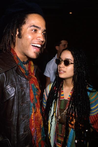 lenny kravitz & wife lisa bonet in the 80's