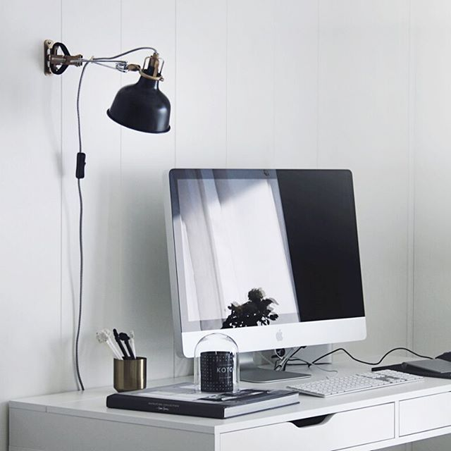 My most recent project ; ikea ranarp pimped, from white ➝ black | our office…