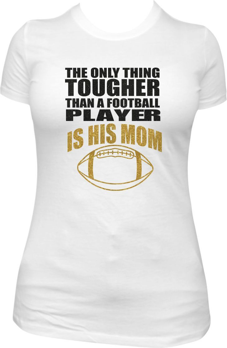 Hey Football Moms! This shirt is a must-have while cheering your son on from the…
